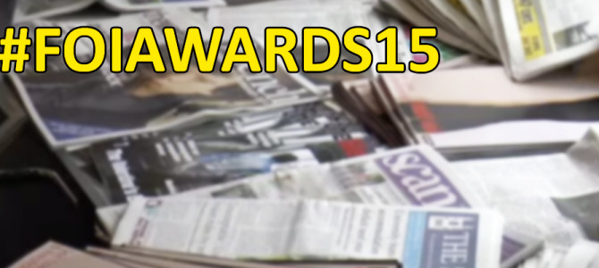 #FOIAwards15 Shortlist Announced