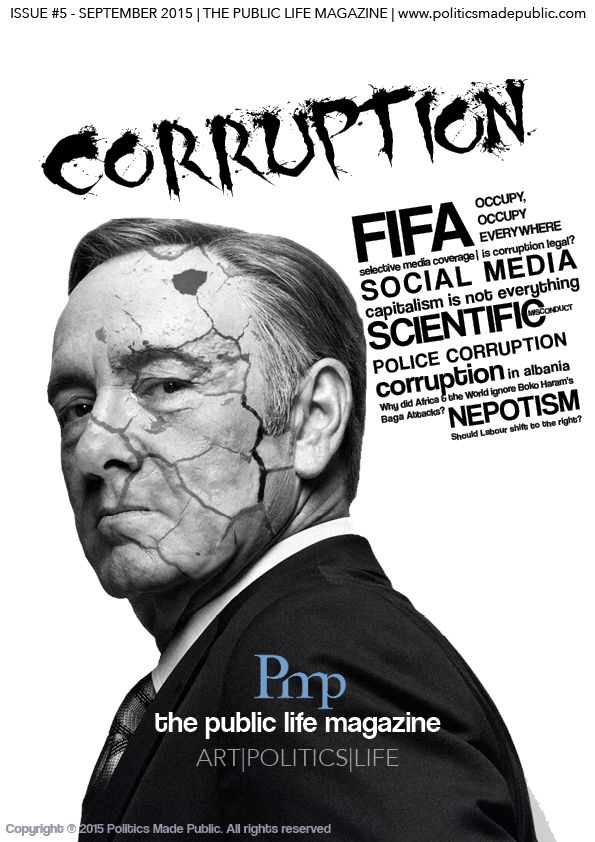 It is noteworthy the way in which we attempted to seamlessly link the idea that corruption is present everywhere, with a pop-culture icon such as Frank Underwood from House of Cards. This is complemented by our word cloud, replacing traditional headlines on the front page to give a more holistic view of our content