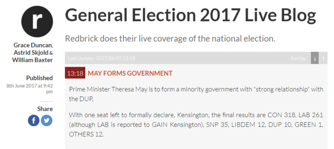 Splash Sunday 11/06 – General election coverage